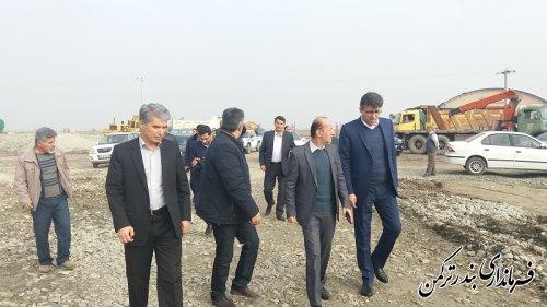بازدید سرپرست فرمانداری شهرستان ترکمن از پروژه ملی زهکشی اراضی شهرستان