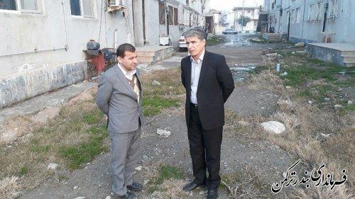 بازدید سرپرست فرمانداری از مسکن مهر آزادی بندرترکمن