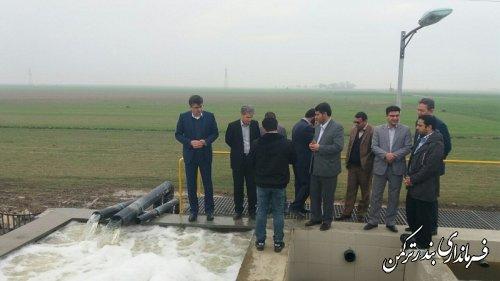 سرپرست فرمانداری ترکمن از تاسیسات آب شیرین کن نیازآباد بازدید کرد