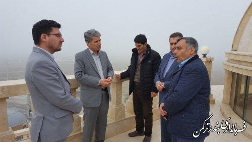 بازدید سرپرست فرمانداری ترکمن از طرح های گردشگری شهرستان