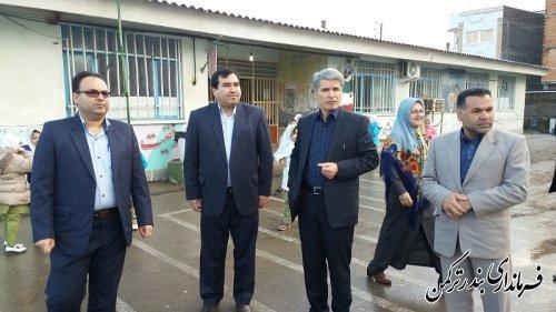 بازدید سرپرست فرمانداری ترکمن از مدارس سطح شهرستان
