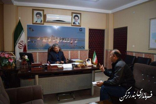 ملاقات عمومی سرپرست فرمانداری شهرستان ترکمن برگزار شد