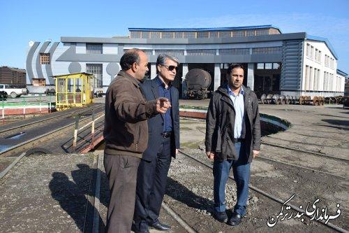 بازدید سرپرست فرمانداری ترکمن از از کارگاه تعمیرات اساسی واگن شهرستان
