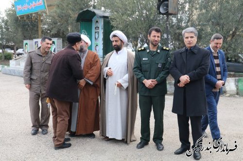 اعزام جمعی از بسیجیان شهرستان ترکمن به مشهد مقدس