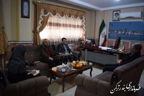 دیدار مدیرکل کانون پرورش فکری کودکان و نوجوانان استان با سرپرست فرمانداری ترکمن