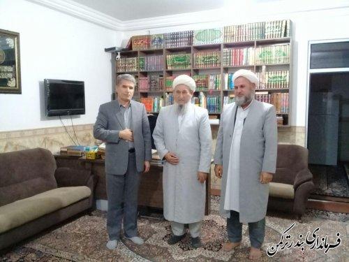 دیدار سرپرست فرمانداری ترکمن با امام جمعه اهل سنت شهرستان
