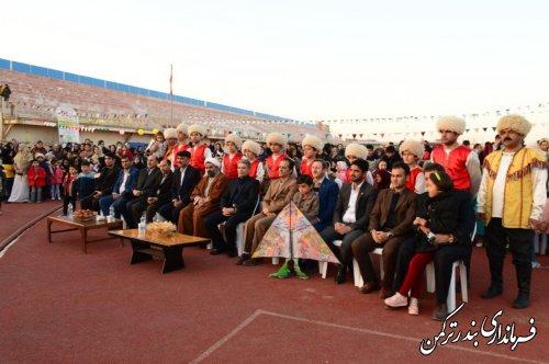 جشن بزرگ بادبادک ها در شهرستان ترکمن برگزار شد