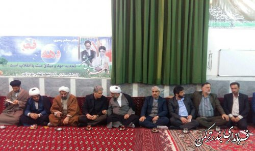 نشست مردم و مسئولین در روستای زابل محله سفلی شهرستان ترکمن