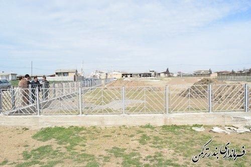 بازدید سرپرست فرمانداری ترکمن از پارک در حال احداث روستای سیجوال
