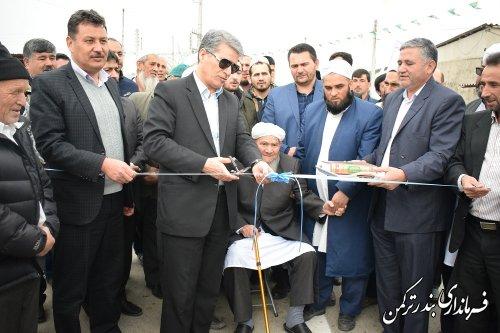 افتتاح متمرکز پروژه های طرح هادی در شهرستان ترکمن