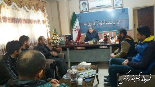 دیدار رئیس اعضای تیم فوتبال ساحلی پدیده ترکمن با سرپرست فرمانداری ترکمن