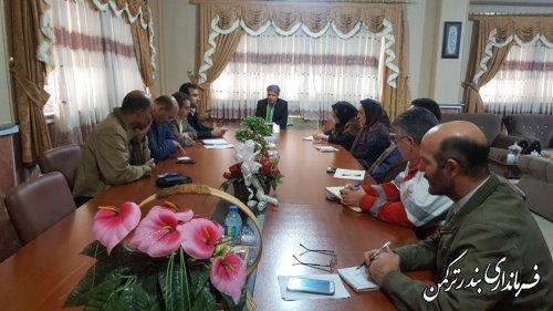 جلسه ستاد خدمات سفر شهرستان ترکمن برگزار شد