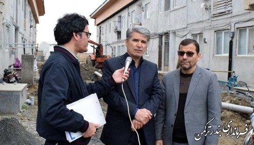 بازدید فرماندار از مسکن مهر آزادی شهرستان ترکمن