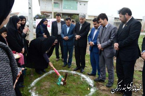 پارک بانوان شهرستان ترکمن کلنگ زنی شد