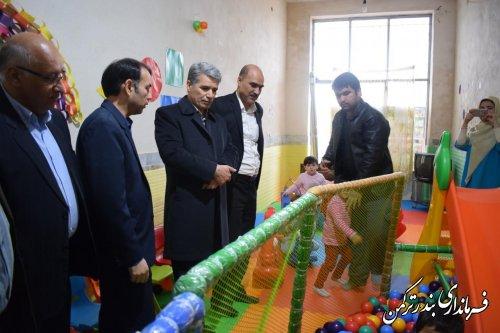 بازدید فرماندار از مهدکودک و پیش دبستانی الفت سیجوال