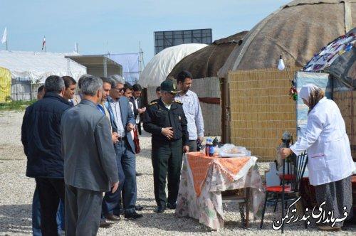 بازدید فرماندار از  نوروزگاه گردشگری شهرستان ترکمن
