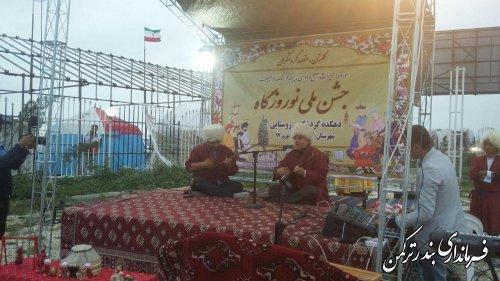 نوروزگاه و دهکده گردشگری روستایی شهرستان ترکمن افتتاح شد