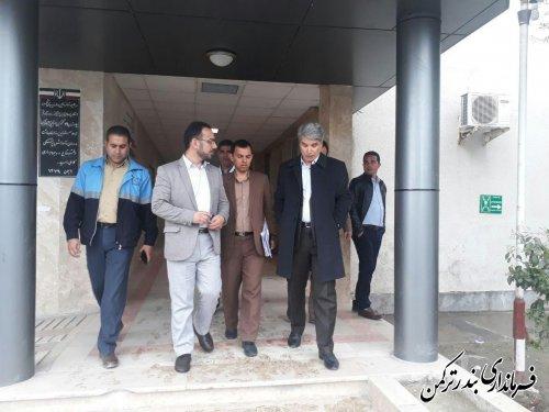 بازدید فرماندار از بیمارستان امام خمینی (ره) بندرترکمن