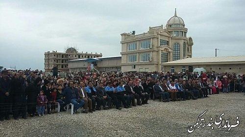 جشن متمرکز نوروزگاههای استان در شهرستان ترکمن برگزار شد