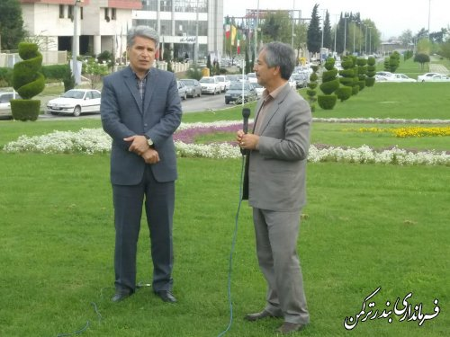 حضور فرماندار شهرستان ترکمن در برنامه اولکام شبکه گلستان