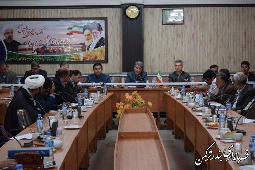 اولین جلسه کارگروه سلامت و امنیت غذایی شهرستان ترکمن در سال 97 برگزار شد
