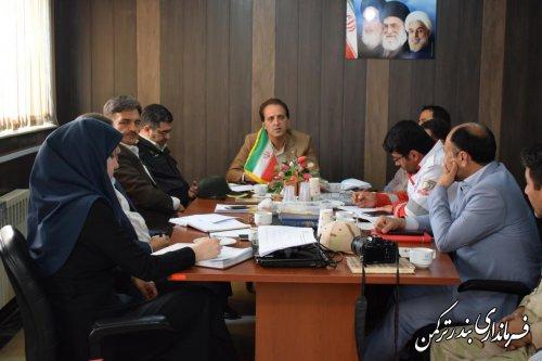 جلسه ستاد تسهیلات نوروزی شهرستان ترکمن برگزار شد