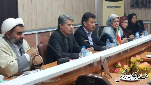 اولین جلسه کارگروه امور بانوان و خانواده شهرستان ترکمن درسال  97 برگزار شد