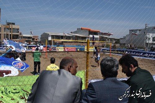افتتاح مسابقات والیبال ساحلی قهرمانی کشور در شهرستان ترکمن