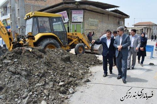 بازدید فرماندار از پروژه آبرسانی شهرستان ترکمن