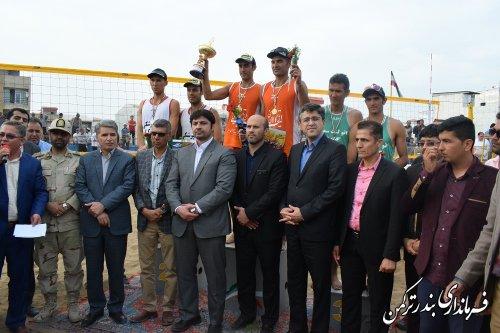اختتامیه تور آزاد والیبال ساحلی کشور در شهرستان ترکمن