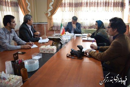 نشست هم اندیشی مشاوران فرماندار با فرماندار شهرستان ترکمن