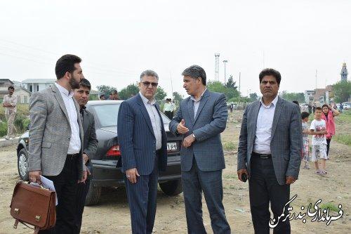 بازدید میدانی فرماندار و مدیرکل راه آهن شمال شرق 2 از مسکن مهر آزادی