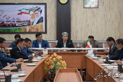 جلسه بررسی رفع موانع تولید شهرستان ترکمن برگزار شد