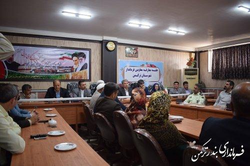 مراسم معارفه و تکریم معاونین فرمانداری شهرستان ترکمن برگزار شد