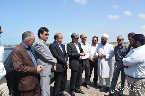 بازدید فرماندار از طرح گردشگری روستای چپاقلی