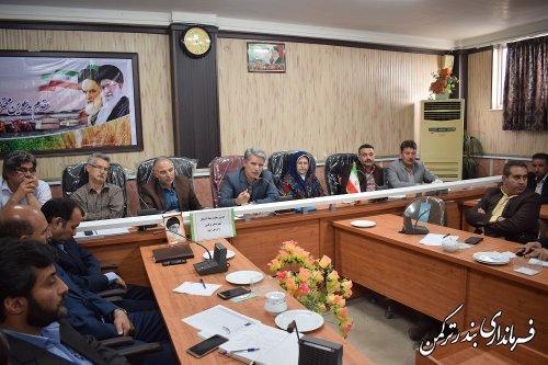 دومین جلسه ستاد اشتغال شهرستان ترکمن برگزار شد