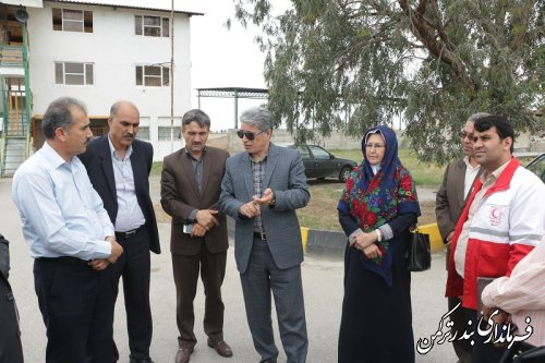 بازدید فرماندار از میدان سوارکاری شهرستان ترکمن