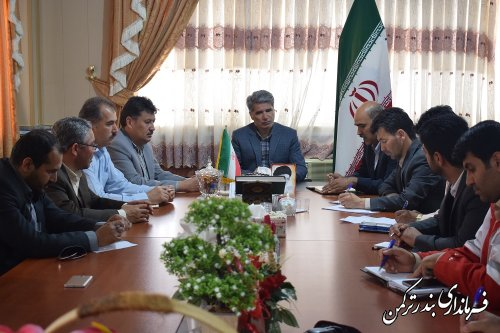 جلسه هماهنگی برگزاری مسابقات سوارکاری شهرستان ترکمن برگزار شد