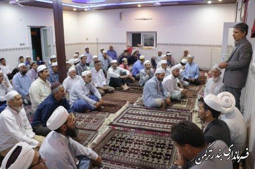 حضور فرماندار در مسجد روستای نیازآباد
