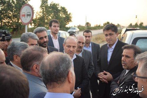 بازدید وزیر راه و شهرسازی از پروژه چهاربانده کردن محور بندرترکمن به کردکوی