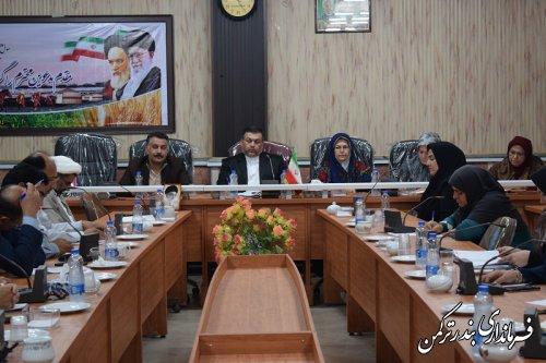 جلسه کارگروه امور بانوان و خانواده شهرستان ترکمن برگزار شد