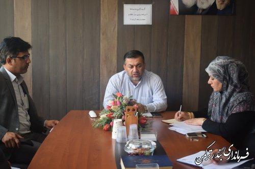 جلسه برنامه ریزی همایش روز عفاف و حجاب و روز دختر شهرستان ترکمن تشکیل شد