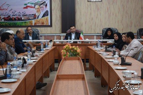 جلسه ستاد ساماندهی حاشیه نشینی و متکدیان شهرستان ترکمن برگزار شد