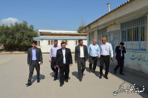 بازدید معاون سیاسی، امنیتی و اجتماعی فرمانداری ترکمن از مدرسه دخترانه شهید ایمن طلب