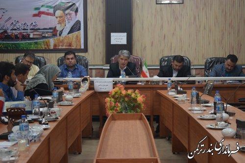 دومین جلسه کارگروه سلامت و امنیت غذایی شهرستان ترکمن در سال 97  برگزار شد