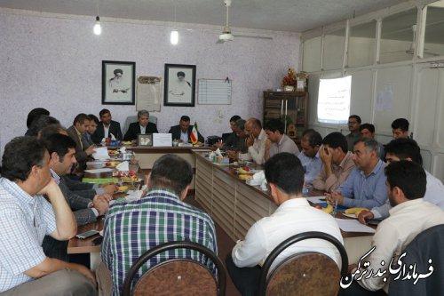 جلسه هم اندیشی ظرفیت ها و فرصت ها و چالش های فرا روی سرمایه گذاری شهرستان ترکمن برگزار شد