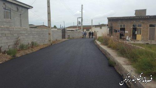 بازدید فرماندار از روند اجرای طرح هادی در روستاهای شهرستان ترکمن