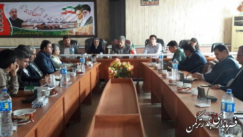 دومین جلسه ستاد مدیریت بحران شهرستان ترکمن برگزار شد