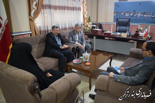 دیدار معاون هماهنگی امور عمرانی استاندار با فرماندار شهرستان ترکمن