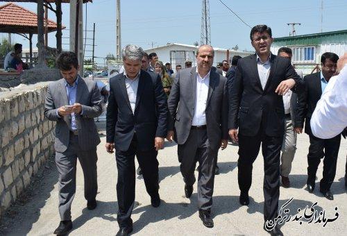 بازدید استاندار گلستان از اسکله شهرستان ترکمن